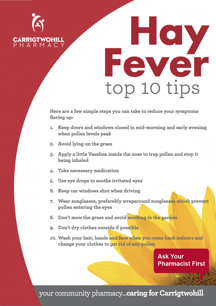 Hayfever Top 10 Tips